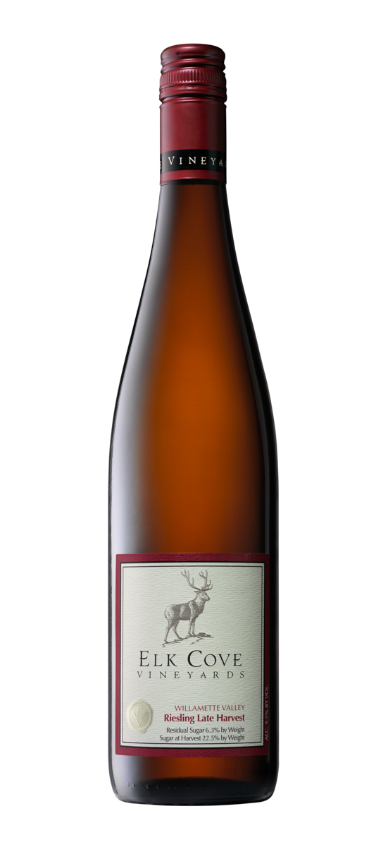 Elk Cove Riesling Late Harvest Wine Bottle