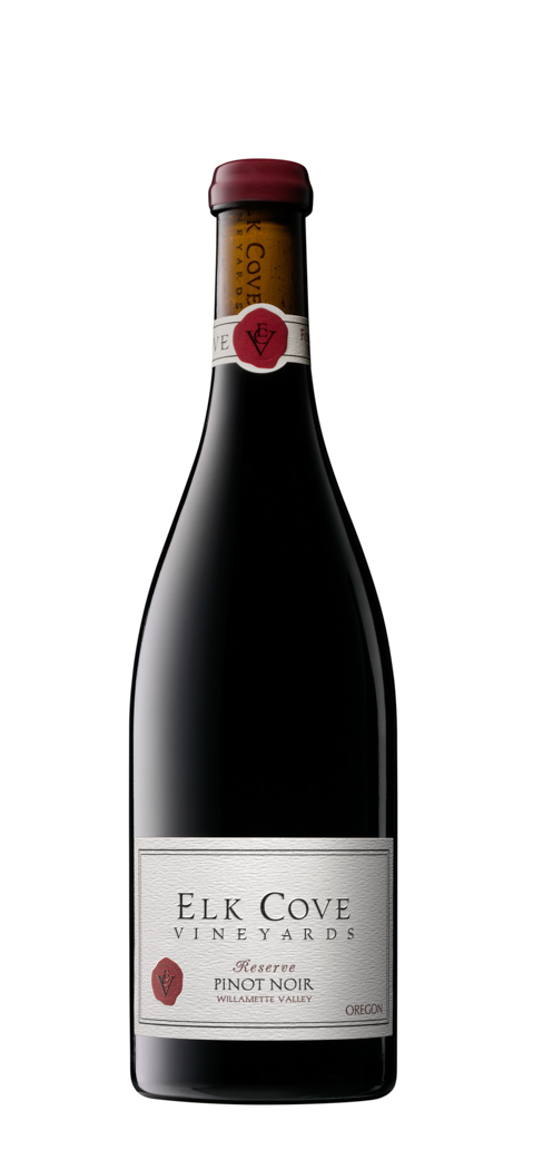 Elk Cove Reserve PinotNoir Wine Bottle